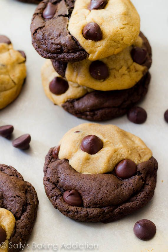 Soft-Baked Peanut Butter Chocolate Swirl Cookies. - Sallys Baking Addiction