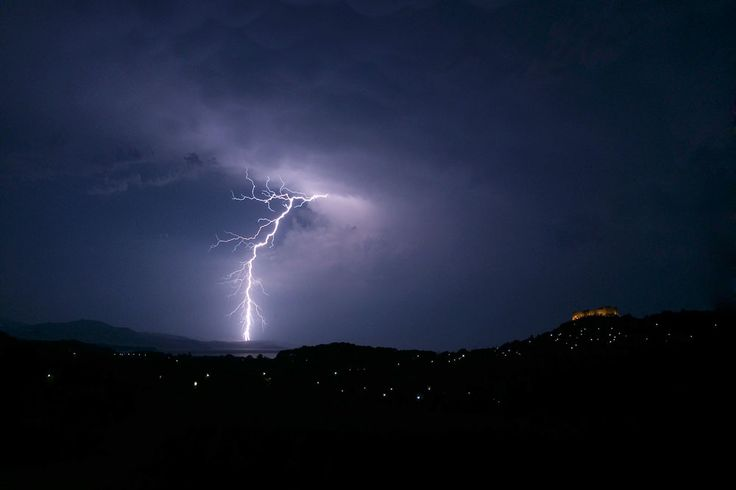 Lightning ground strike at 23:36 on 6 August 2014