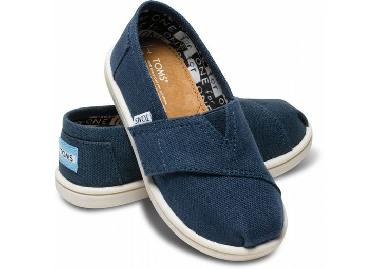 Navy Canvas Tiny TOMS Classics | TOMS.com
