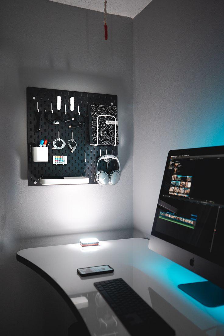 Minimalist Peg Board For Organization Diy Computer Desk