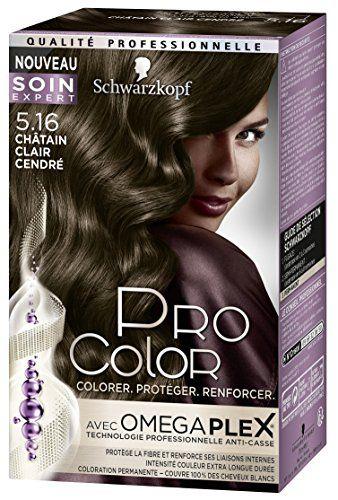 Pro Color Schwarzkopf Coloration Permanente Châtain Clair Cendré 5.16 #Color #Schwarzkopf #Coloration #Permanente #Châtain #Clair #Cendré