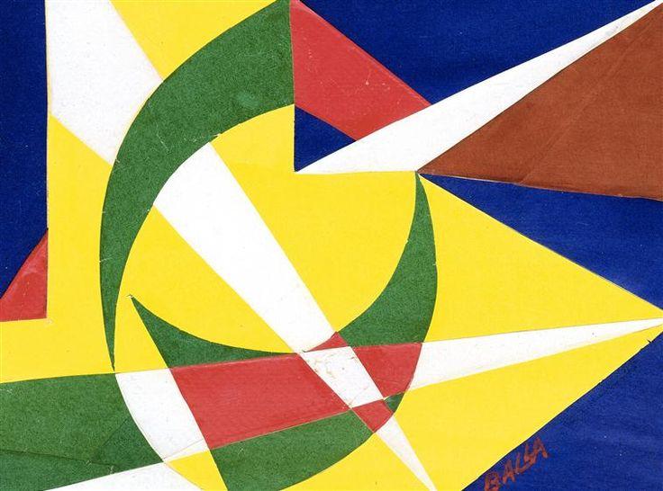 Lignes spatiales lumineuses. Giacomo Balla