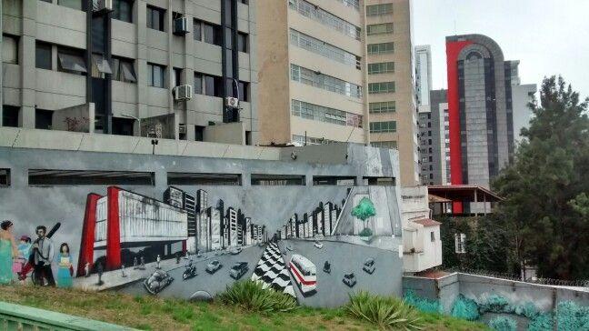 Mural  na 23 de Maio/ São Paulo BR 07/2017