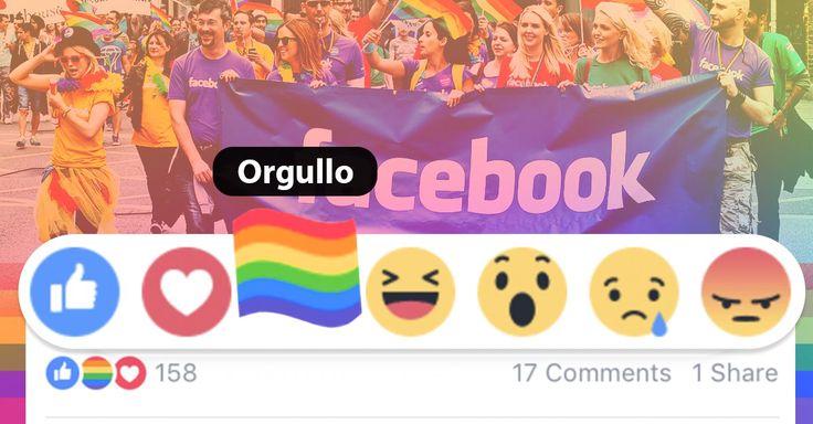 Facebook ahora tiene una 'reacción de orgullo'. El nuevo emoji, se establece como el símbolo del orgullo gay y estará disponible durante todo el mes de junio