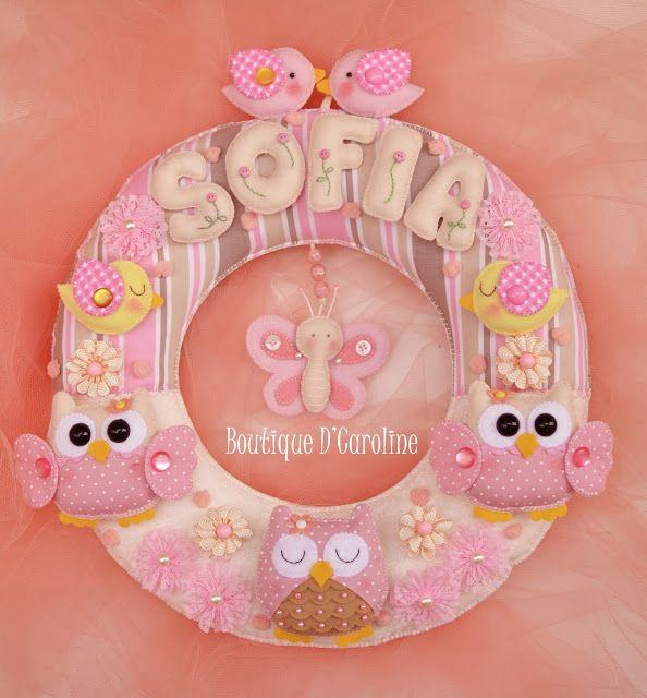 Atelier - Boutique D' Caroline: ♥ Porta Maternidade da Sofia