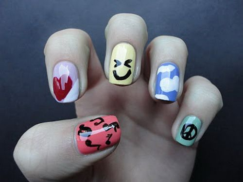 Mer enn 25 bra ideer om kid nail designs p pinterest painted cute nail designs for kids cute nail ideas from gel prinsesfo Choice Image