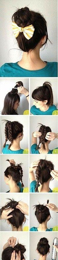 Easy braided ponytail hairstyle how-to | Buyingalbum