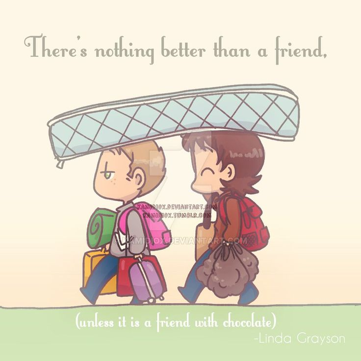 Friends with chocolate by KamiDiox on DeviantArt