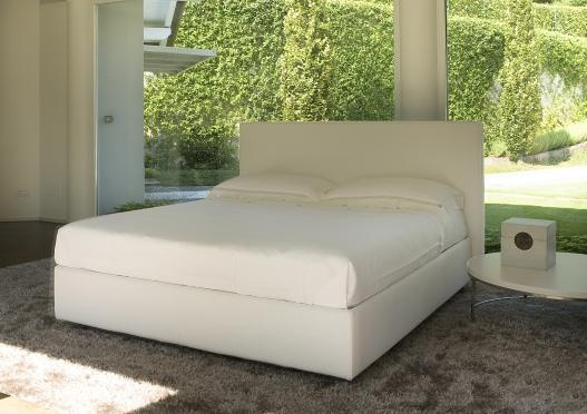 """""""Ares"""" upholstered bed by Berto Salotti (Meda, Italy). 100% hand made in Brianza, by Italian Master Artisans."""