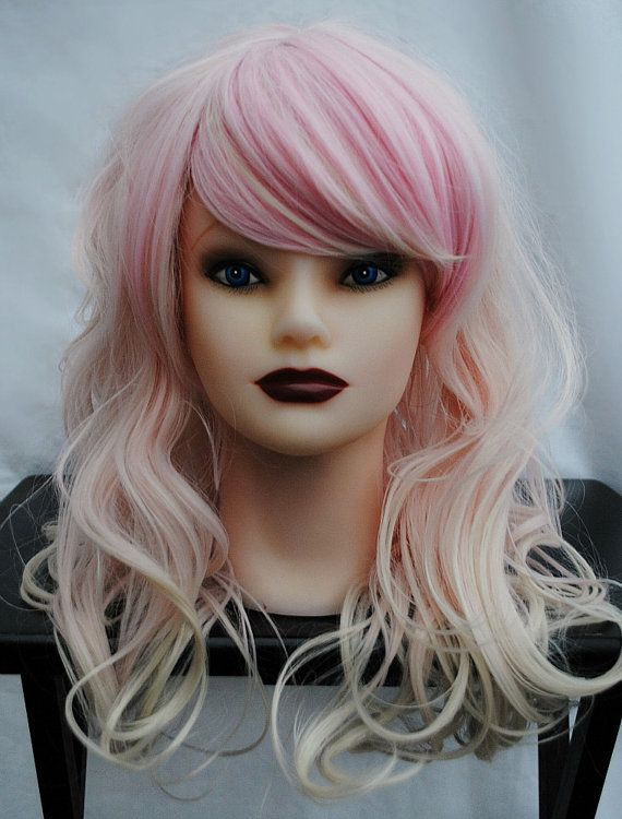 STOREWIDE SALE . STRAWBERRY Cupcake wig // Pastel Ombre // Pink Blonde Hair // Long Wavy Sweet Lolita wig