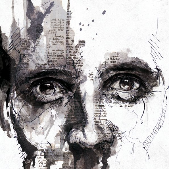 Illustrator Florian Nicolle (previously) has published a wonderful collection of his textured illustrations from 2011. Layering scans of newspaper, ink, paint, and a fair amount of digital retouching he arrives at these truly remarkable portraits.