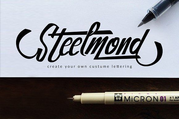Steelmond (25% off) by Dirtyline Studio on @creativemarket