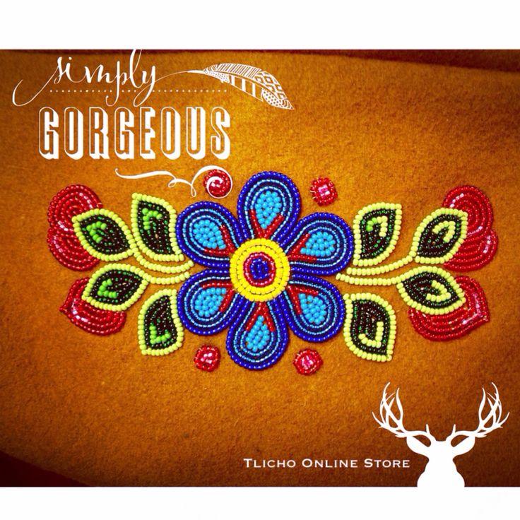 Enjoy some #beautiful #Tlicho #Dene #beadwork. http://onlinestore.tlicho.ca