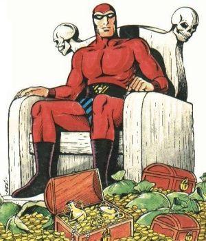 17 Şubat 1936'da Kızılmaske bir gazete stripi olarak yaratıldı. Çizgi roman dünyasının ilk özel kostümlü kahramanıdır.