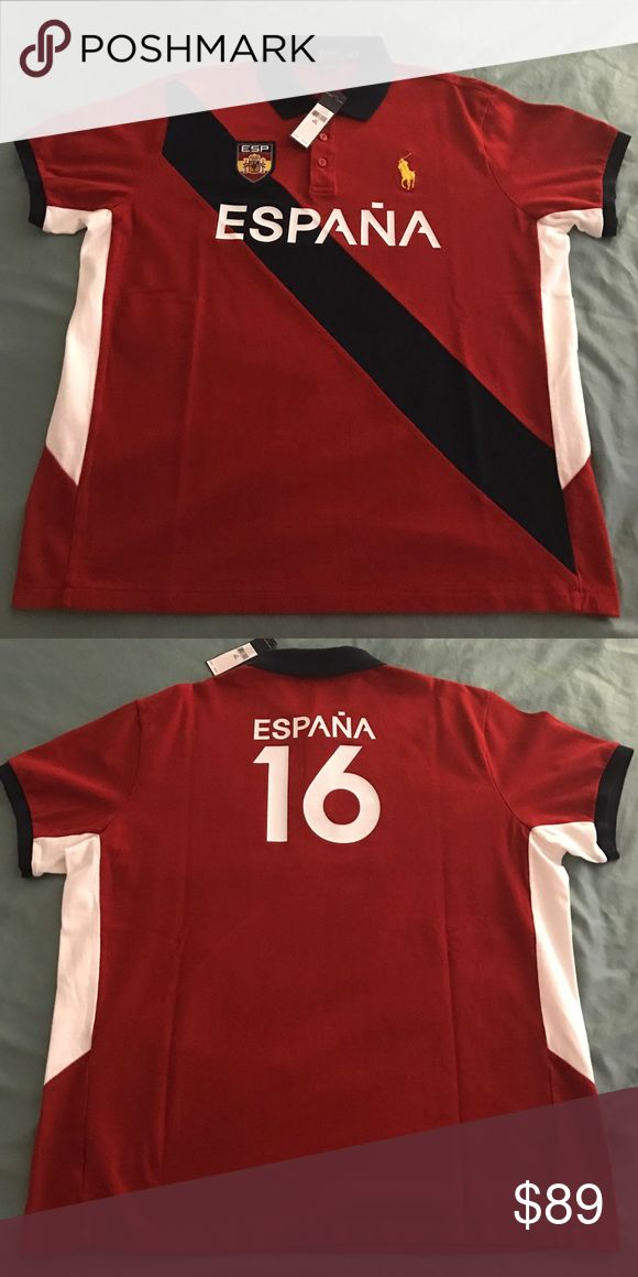 NWT Polo Ralph Luaren (Country Espana) XXL Polo Ralph Luaren custom fit Polo by Ralph Lauren Shirts Polos