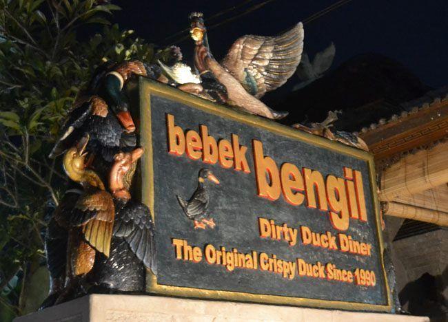 Bebek Bengil Dirty Duck Diner The Original Crispy Duck in Ubud Bali (Bebek Betutu) Balinese food, Best eating and best restaurants in Ubud, Bali, Indonesia, Southeast Asia. Check for full description and list of favourites here: http://live-less-ordinary.com/southeast-asia-food/best-restaurants-in-ubud-centre