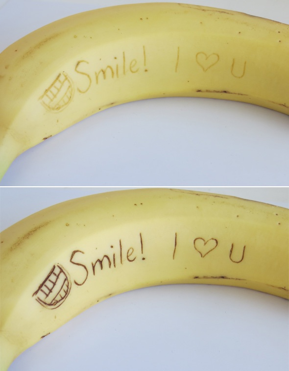 Send your child a secret banana-gram! Plus 3 other fun family food ideas {me elsewhere - Mission for Health}