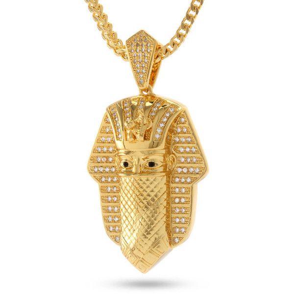 Mens white gold necklace 25 king ice 14k gold cz bandana pharaoh necklace 60 liked on polyvore featuring mens fashion mens jewelry mens necklaces gold mens gold necklace mozeypictures Choice Image