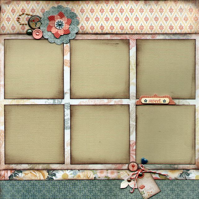 Scrapbook Page Layout from the February KTK kit at Captured Moments