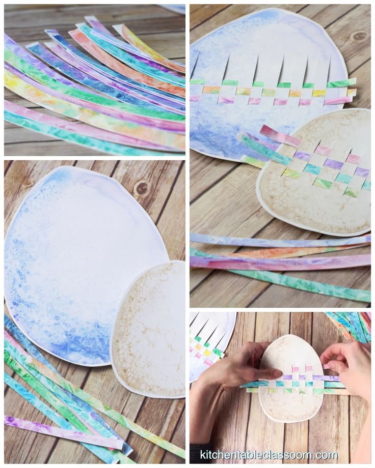 Painted Easter Egg Weaving – The Kitchen Table Classroom