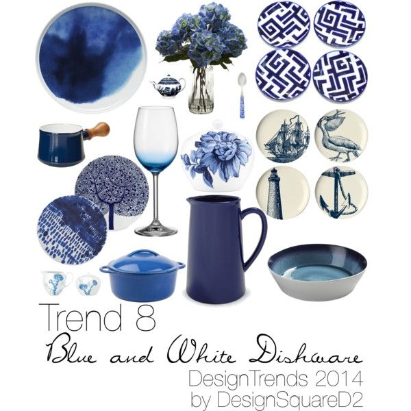 """Trend 8 Blue & White Dishware"" by design2square on Polyvore"