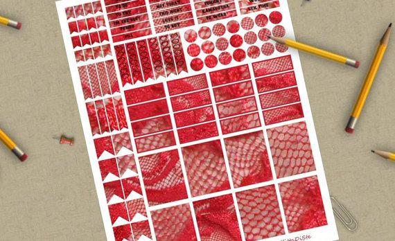 adesivi planner pizzo rosso sexy sesso stampare agenda organizer felice planner…