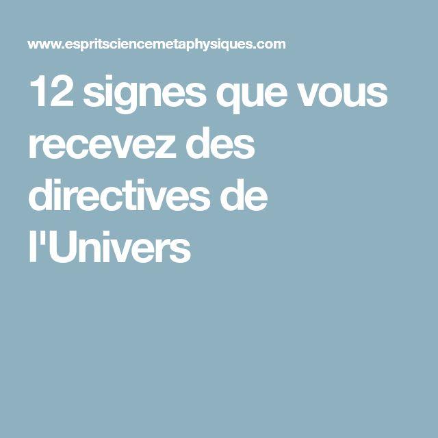 12 signes que vous recevez des directives de l'Univers