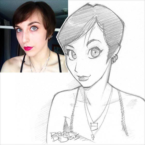 75 ilustrações em estilo anime de pessoas estranhas por Rober DeJesus