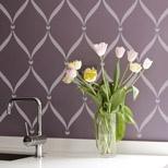 stencil a kitchen backsplash