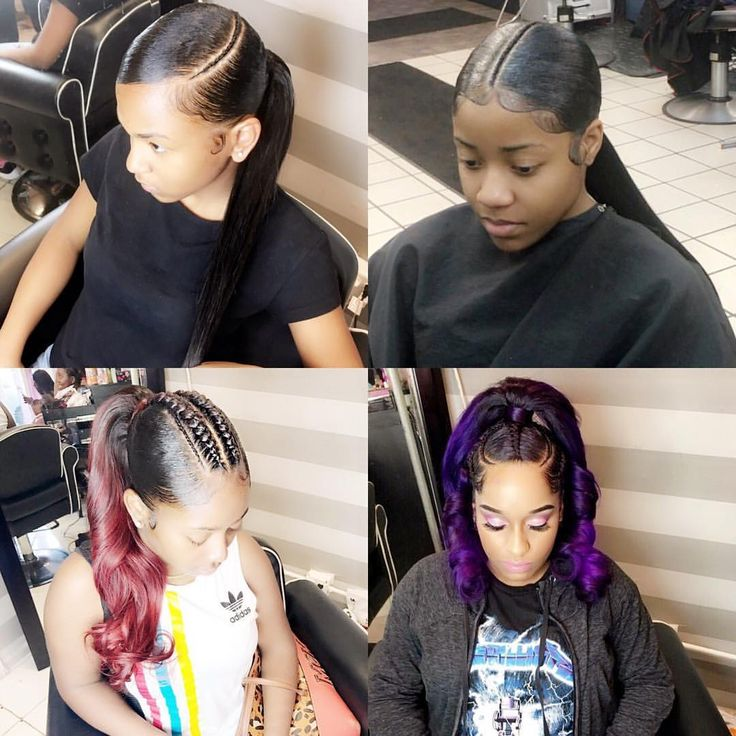 """99 Likes, 4 Comments - Makeupbylizha (@beautybylizha) on Instagram: """"Get the look weave ponytail with braids #protectivestyles #protectivestyles #braidstyles…"""""""
