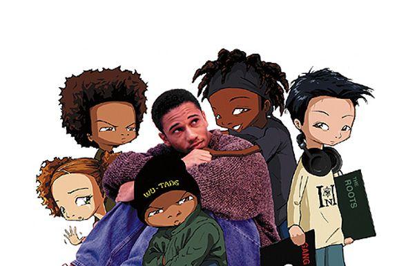 Aaron & his The Boondocks characters <3