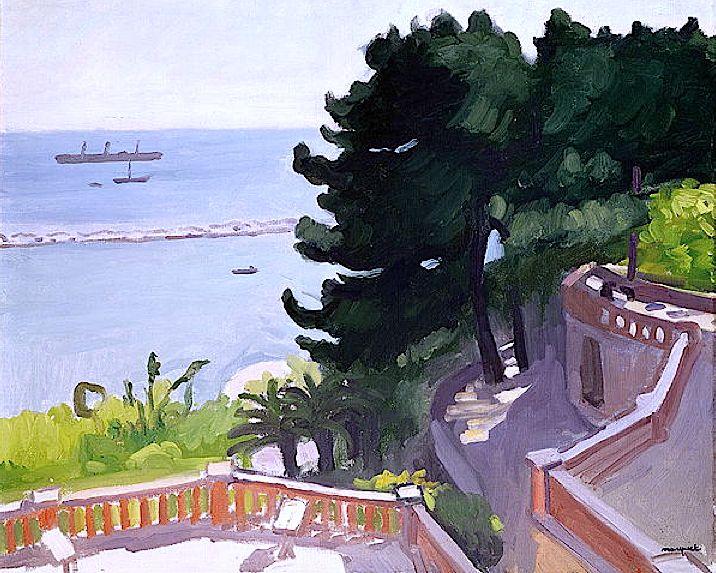 L'Estaque à Marseille, Albert Marquet (L'Estaque - un quartier du 16e arrondissement de Marseille, situé à l'extrémité nord-ouest de la ville. Ses habitants sont les Estaquéens.)
