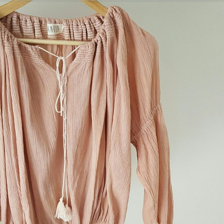 Cotton gauze dusty pink blouse