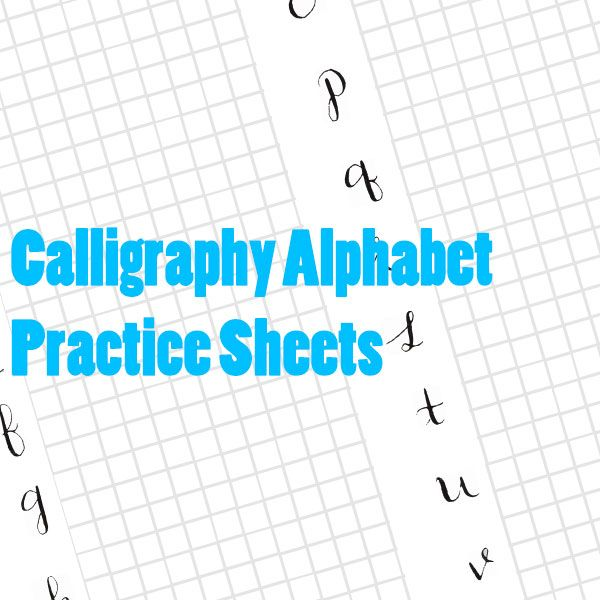 Free printable calligraphy alphabet practice sheets Learn calligraphy letters