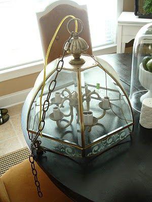 Revamp that old chandelier!: Lights Fixtures, Chandeliers Revamp, Chand Redo, Chandeliers Makeovers, Chand Revamp, Chandi Makeovers, Dining Rooms Chandeliers, Chand Makeovers, Chandeliers Redo