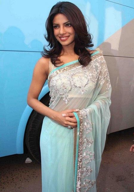 Priyanka Chopra: Priyanka Chopra, Baby Blue, India People, Indian Dresses, Indian Clothing, Blue Colors, Indian Style, Indian Saris, Beautiful Saris