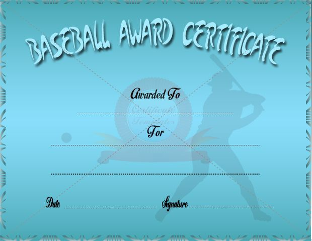 39 best award certificate templates images on pinterest award baseball award certificate yadclub Image collections