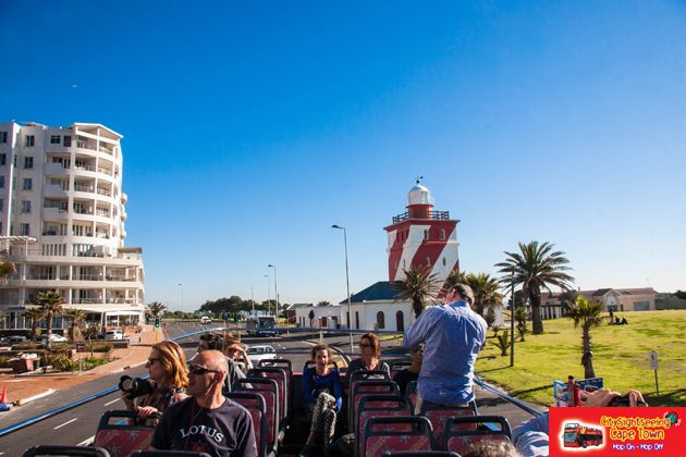 Driving past the Lighthouse.  http://citysightseeing-blog.co.za/2014/08/28/a-tourist-in-my-home-town-cape-town/