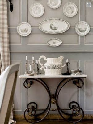 Antique Creil And Montereau French Plates Used In Wall Decor Cannot Get Over These Walls Except Instead Of I Want To Han