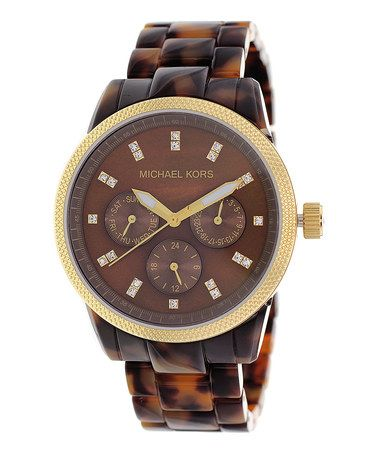 Take a look at this Tortoise Classic Watch - Women by Michael Kors on #zulily today!