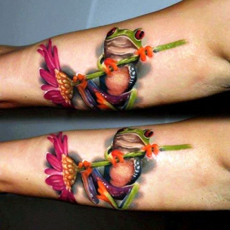 40 frog tattoos frogs flower tattoos and tattoo. Black Bedroom Furniture Sets. Home Design Ideas