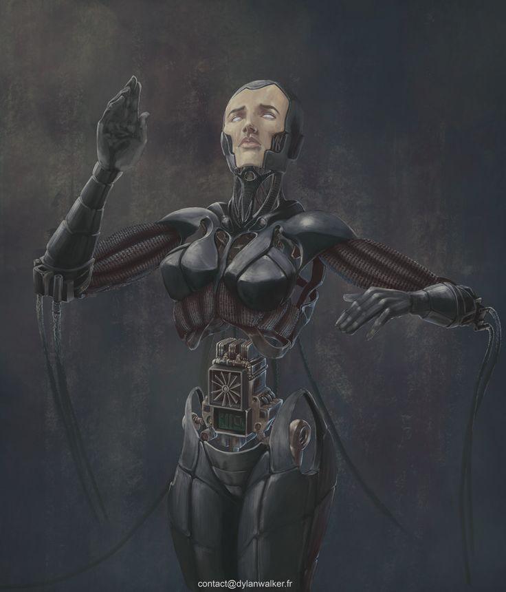 Cyborg, Dylan Walker on ArtStation at https://www.artstation.com/artwork/kBD0K