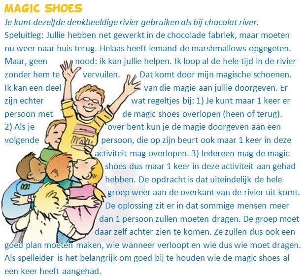 Magic Shoes, het vervolgspel van Chocolat River. Een echte tieneractiviteit waarbij samenwerking voorop staat.