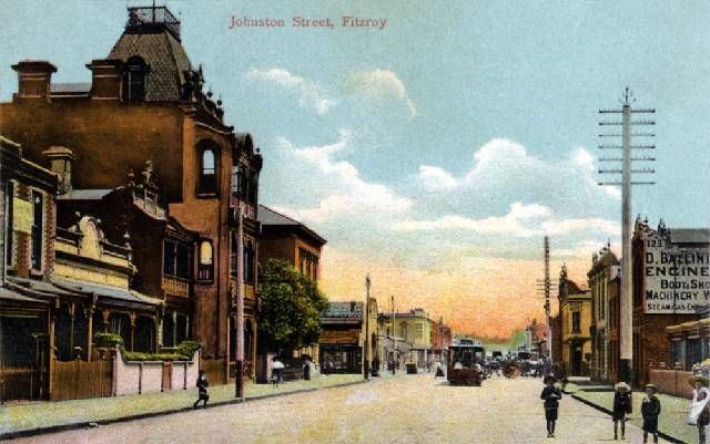Johnston Street, Fitzroy, looking west towards Brunswick Street