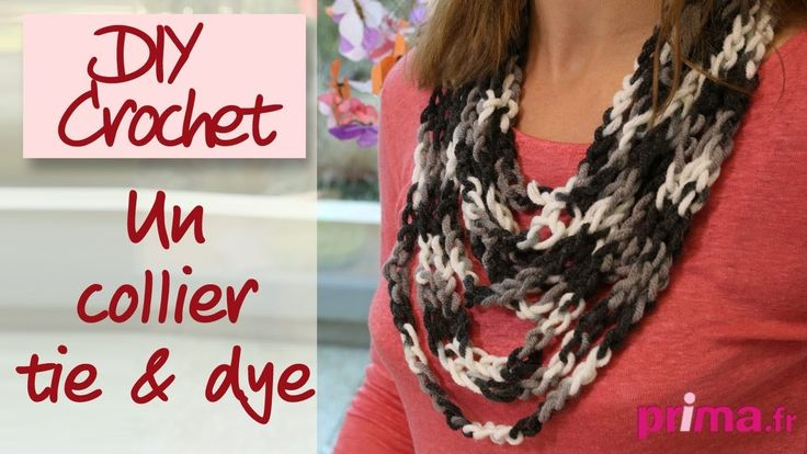 Un collier tie & dye - DIY Crochet