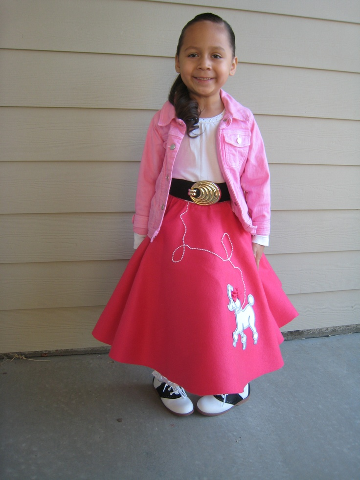 2011 Halloween Belle Was A Pink Lady In Her 50s Poodle Skirt And Saddle ShoesHalloween Costume IdeasPoodle