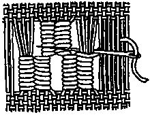 Needle weaving, darning - ANNE WANNER'S Textiles in History / vocabulary 7