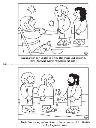 Die Heilung Des Blinden Bartimäus Malbuch Kindi Religion Und