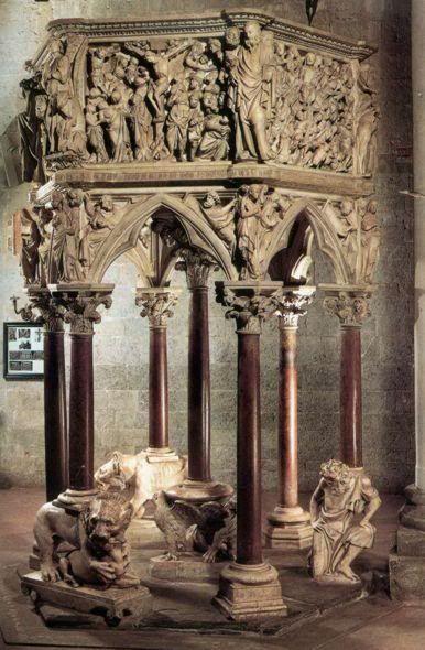 Живописный склад monpansie - Джованни Пизано (Giovanni Pisano) Кафедра церкви Сант-Андреа в Пистойе. Джованни Пизано. 1301 г.