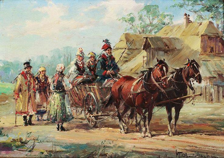 Country Scene - Wladyslaw Chmielinski